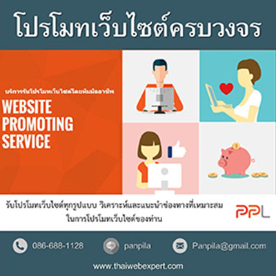 บริการรับโปรโมทเว็บไซต์ครบวงจร WEBSITE PROMOTING SERVICE (โด