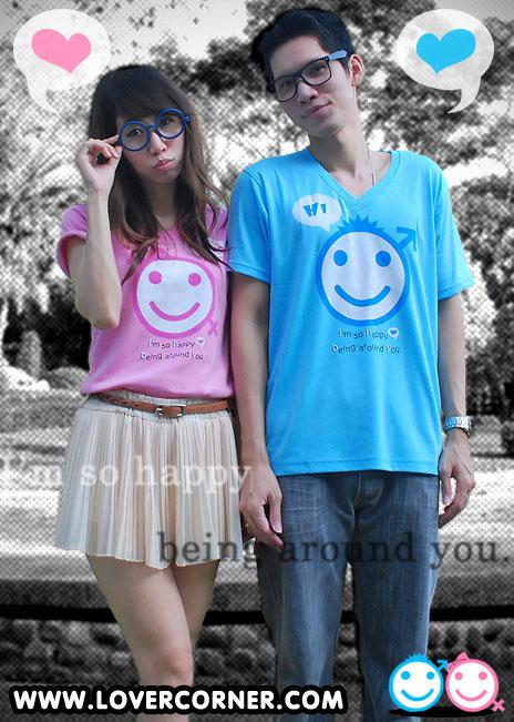 เสื้อคู่รัก ชุดคู่รัก เสื้อยืดคู่รัก สวยเนื้อผ้าดีราคาไม่แพง