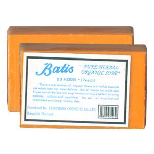 สบู่มะละกอ Batis 13 Herbs (Peach) ปลีก/ส่ง 30-39฿.