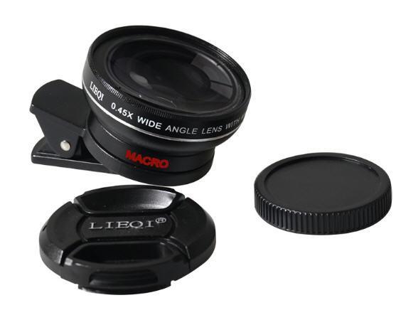 รุ่นใหม่,พร้อมส่ง,เลนส์มือถือ,เลนส์ 2 in 1 camera lens,LIEQI,cliplens,เลนส์เสริมมือถือ,ของแท้100%