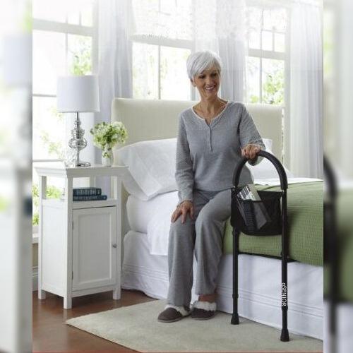 qSENIOR ราวเตียงพยุงตัวห้องนอน โค้ง สำหรับผู้สูงอายุ ผู้ป่วย น้ำหนักมาก