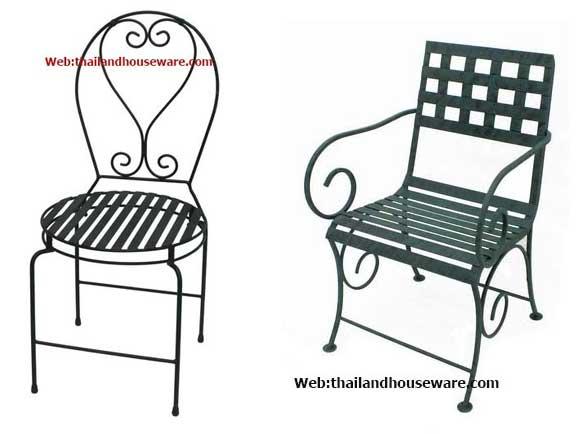 เฟอร์นิเจอร์เหล็ก เก้าอี้นั่งยาว หลายรูปแบบ เก้าอี้เหล็กดัด